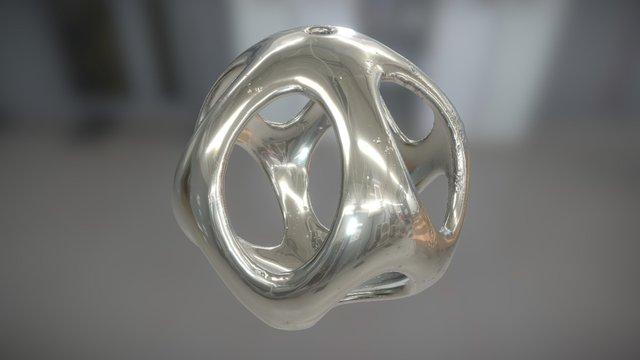 Iso Sphere 02 - Basic Pendant 3D Model
