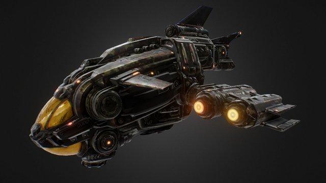 Ship_A2 3D Model
