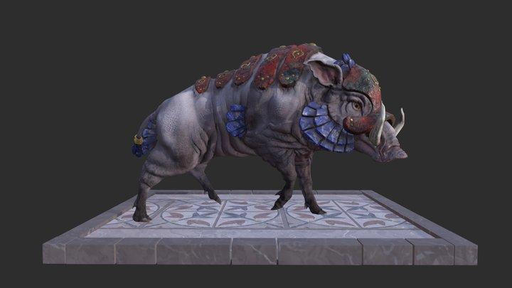 Sumerian Pig - Gursahu 3D Model