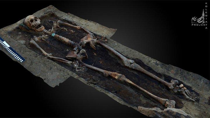 Pochówek szlachcianki herbu Nałęcz 3D Model