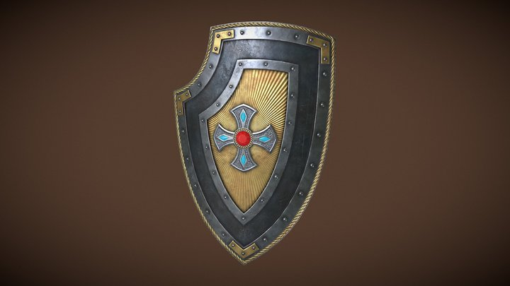 Knight Shield 02 3D Model