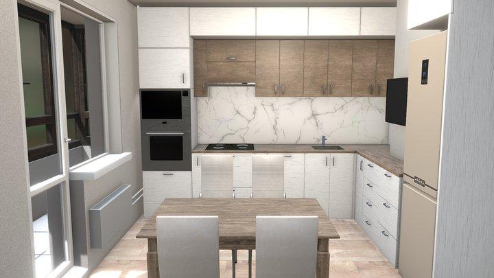 Model kitchen room for Game 3D Model