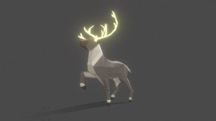 #3December - Reindeer 3D Model