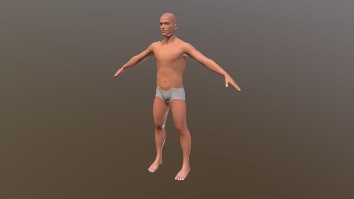 Caucasian Male, Standard 3D Model