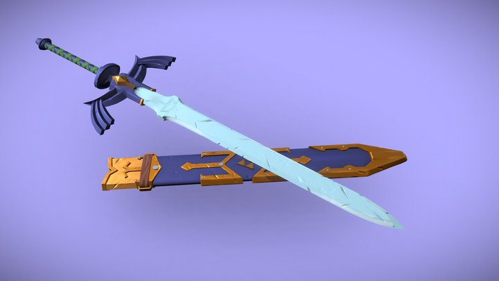 BOTW MasterSword & Sheath 3D Model