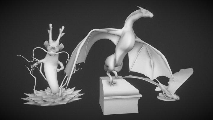 Printable Dragons 3D Model
