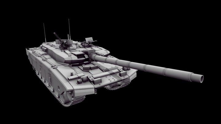 Fictitious tank created by me 3D Model