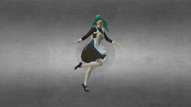 3D Phogure Female Cosplay Outfit - 10 3D Model