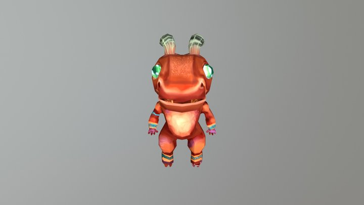 Low Poly Monster 3D Model