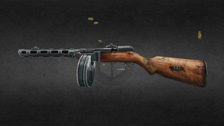 PPSH41 Gun 3D Model