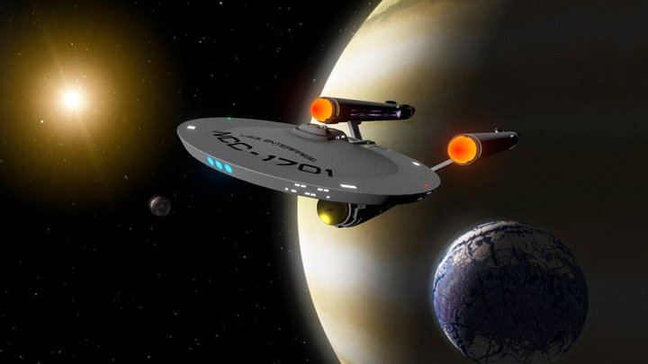 USS ENTERPRISE- ReImagined 3D Model
