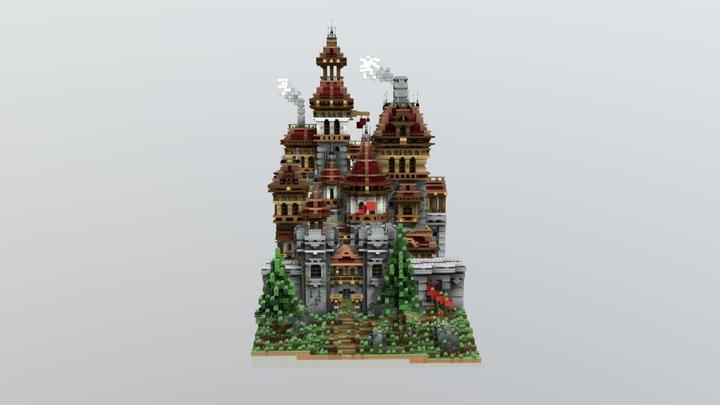 A thriving castle 3D Model