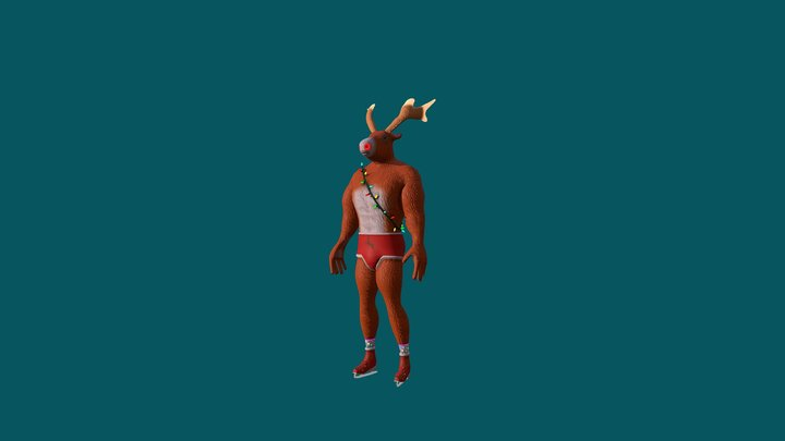Whey Protein Rudolph - Natal 2017 3D Model