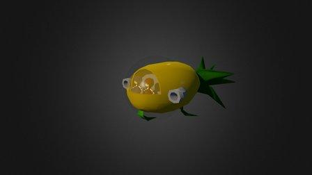Pineapple Ship 3D Model