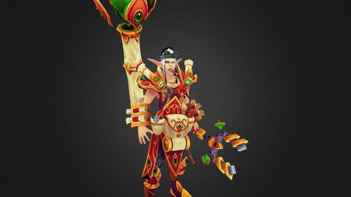 Erasam Emberheart, Blood Elf Artificer 3D Model