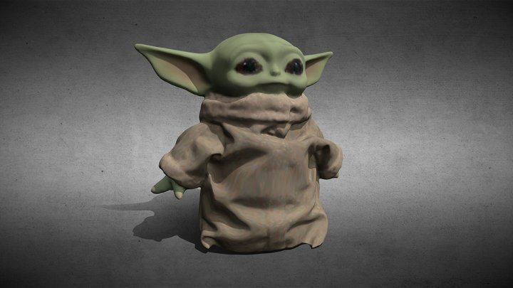 Baby Yoda Plush Toy 3D Model