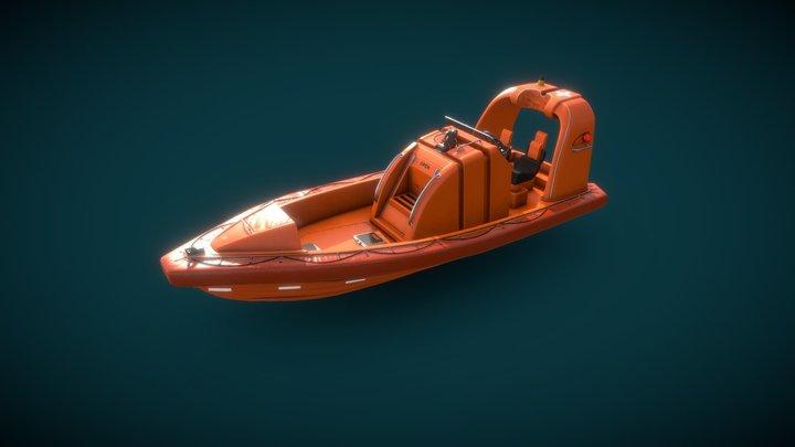 Fast Rescue Craft Mako 655 3D Model