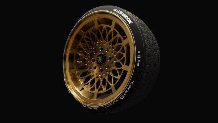 Tuner Wheel 3D Model