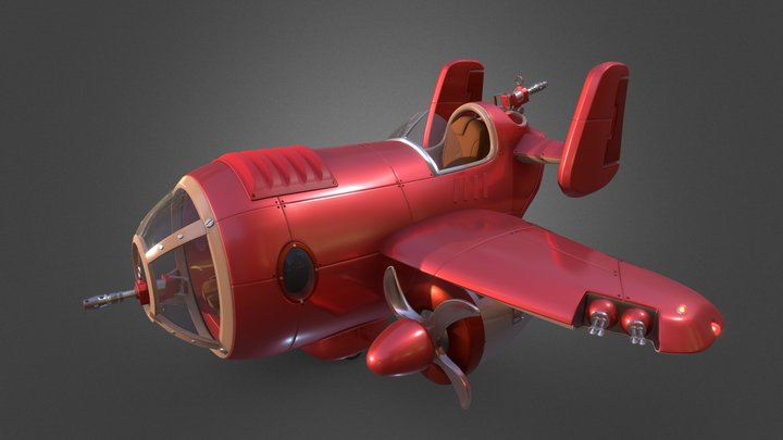Wyld Rabbits airplane 3D Model