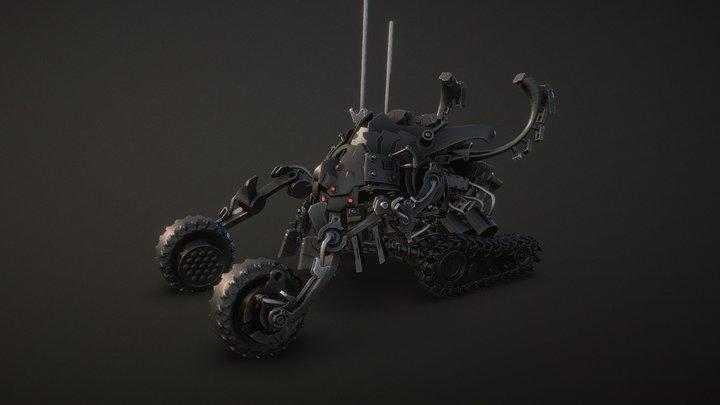 Nano Monster tank from my 3D Graphic Novel 3D Model
