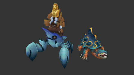 Runescape - Eastern lands Crab And Turtle 3D Model