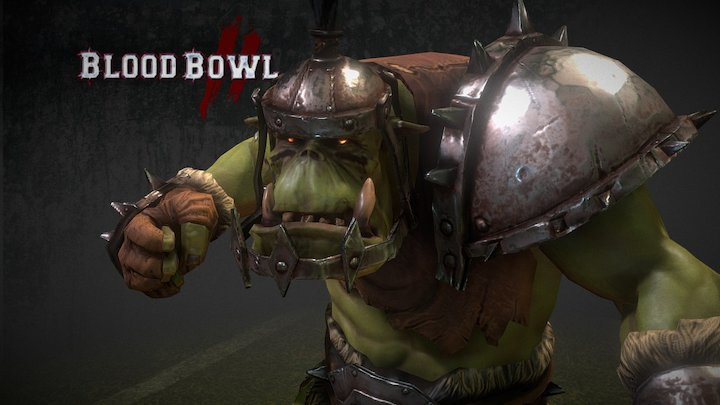 ORC Thrower Animation 3D Model