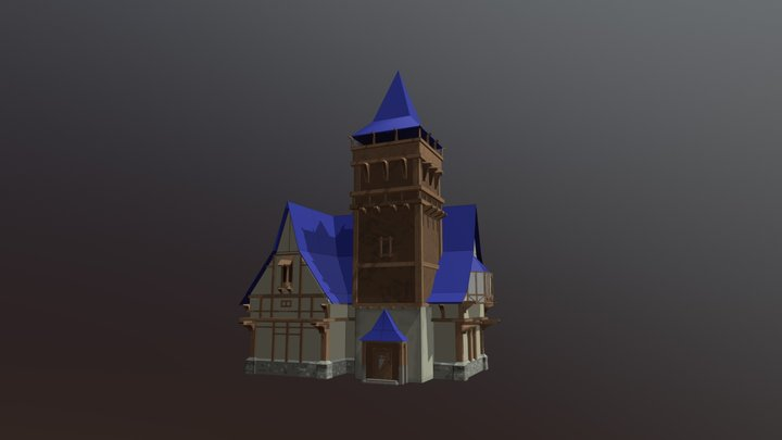 3D Building in medieval style. 3D Model