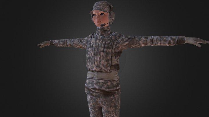 Girl Soldier 3D Model