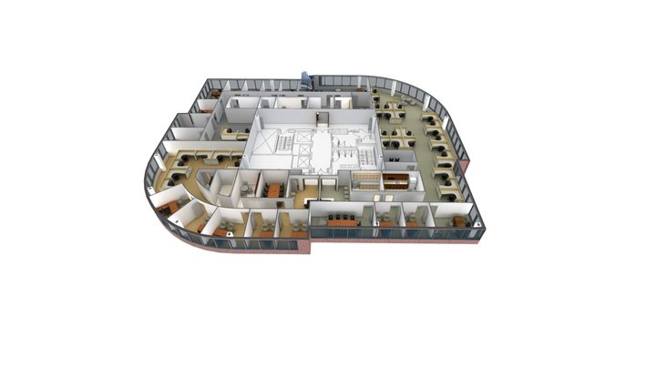 BECO Tower I - Multi-tenant plan 3D Model
