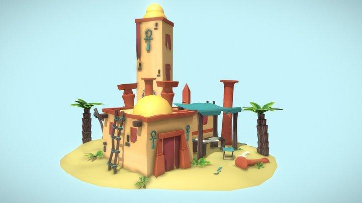Game Art - Egyptian Cartographer 3D Model