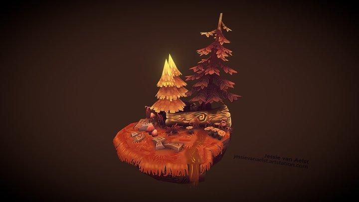 Forest Scene Retouch 3D Model