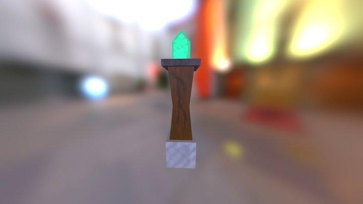 Crystal Fence Post 3D Model