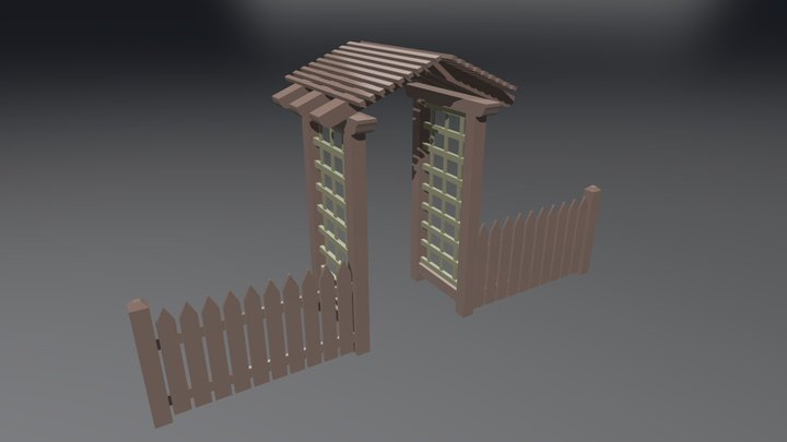 Fence And Arbor 3D Model