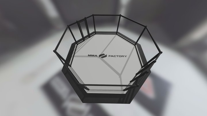 An MMA fight cage 3D Model