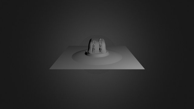 Futuristic Turret 3D Model