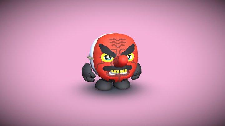 Tengu Mask - Expression 3December 2019 3D Model