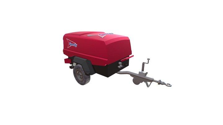 Speedy Hire - Doosan 73/1E Compressor 3D Model