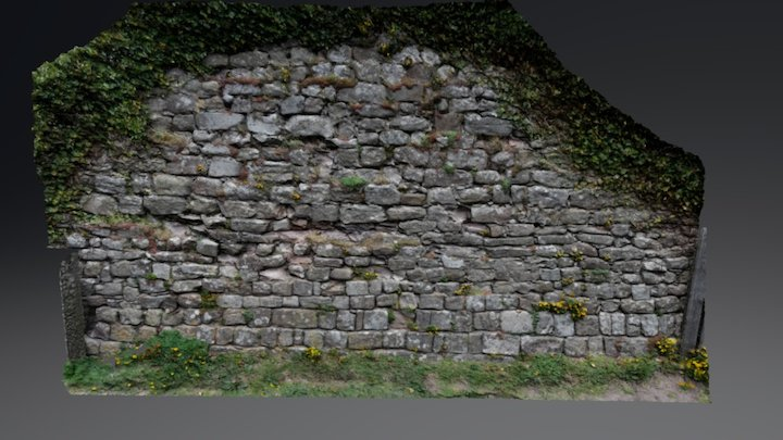 Bamburgh Castle wall 3D Model
