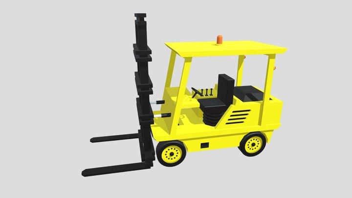 Cartoon Forklift 3D Model