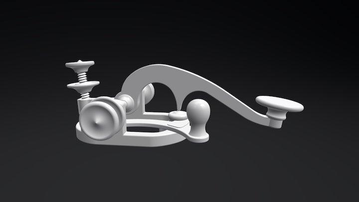 Manipulateur télégraphique du 19ième siècle 3D Model