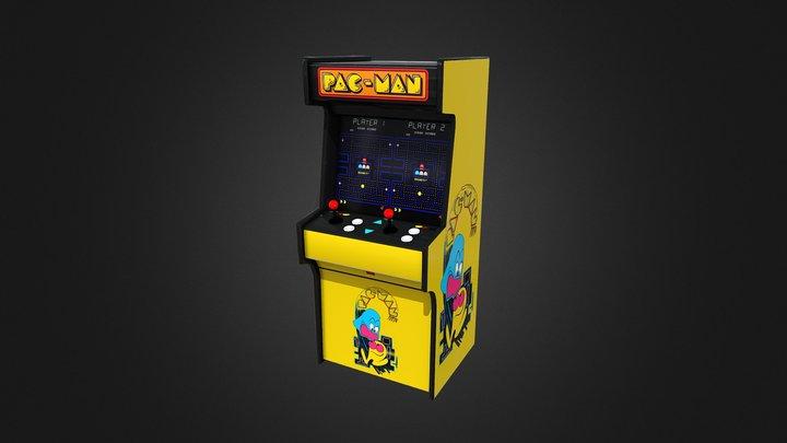 Pacman Arcade 3D Model