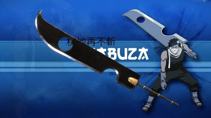 Kubikiribōchō - Zabuza's Sword - Naruto 3D Model