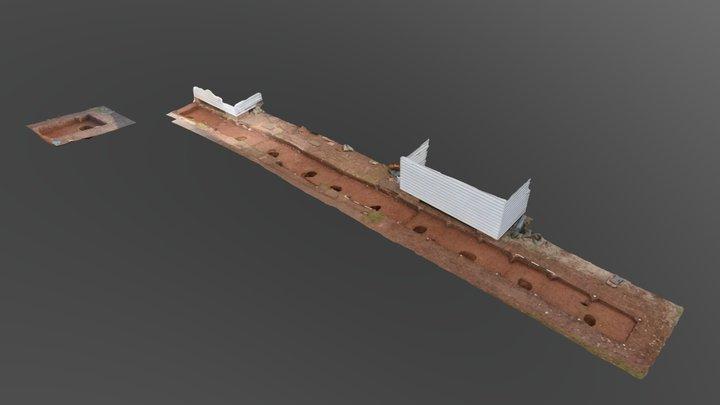 South Yard Fenceline 3D Model