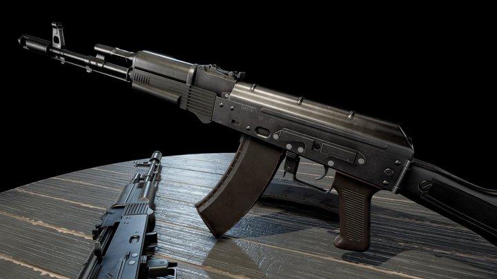AK74M Assault Rifle 3D Model