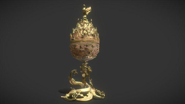 Korea National Treasure_287_백제 금동대향로 3D Model