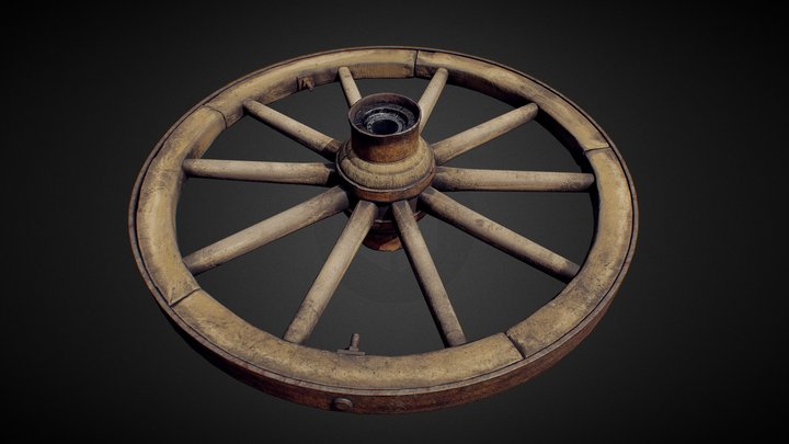 Carriage_Old_Wheel 3D Model