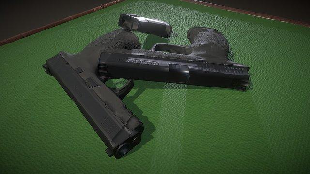 """MP40 """"Factory new"""" Gun 3D Model"""
