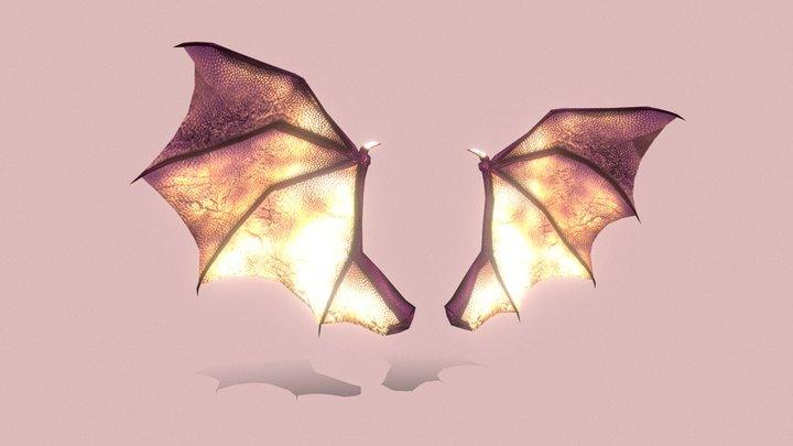 Demon Wings (Low Poly) 3D Model