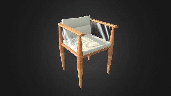 Villa Dining Chair by ZIENTTE 3D Model