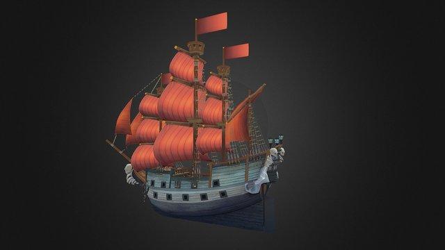 Galleon 3D Model
